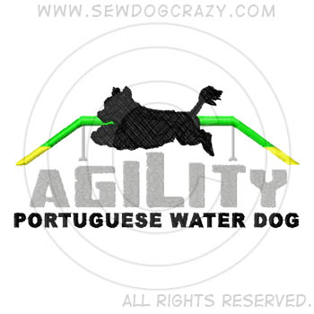 Embroidered Dog Walk Portuguese Water Dog Shirts