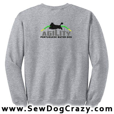 Portuguese Water Dog Agility Sweatshirt