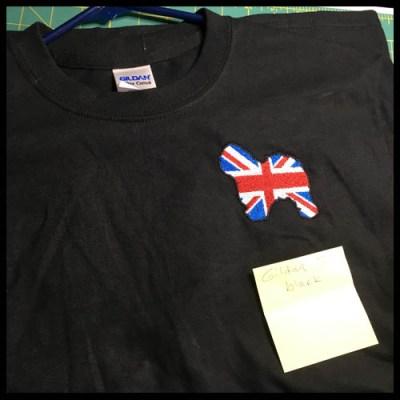Old English Sheepdog Flag Tshirt