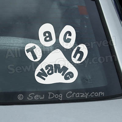 Custom Dog Sports Title Car Window Sticker