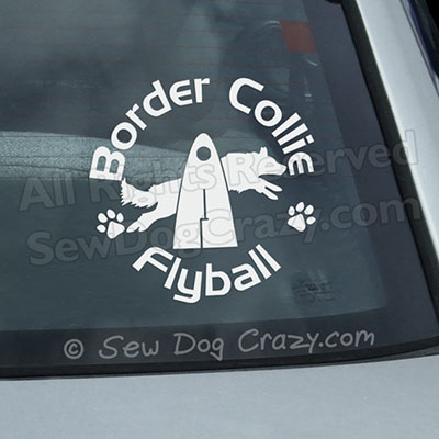 Border Collie Flyball Decal