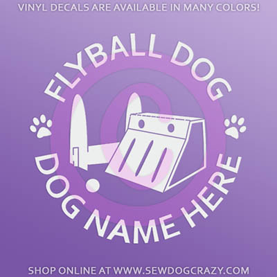 Personalized Flyball Sticker