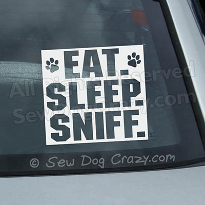 Eat Sleep Sniff Nose Work Stickers