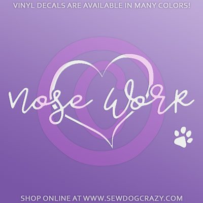 Love Nose Work Car Sticker