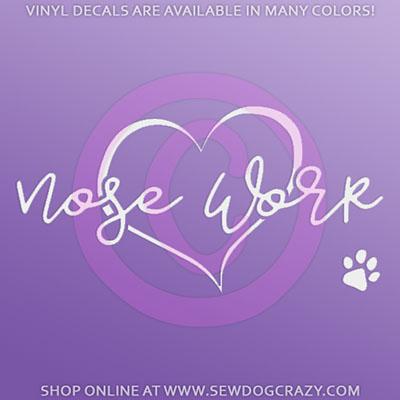 Love Nose Work Car Sticker