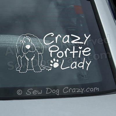 Crazy Portie Lady Car Window Sticker