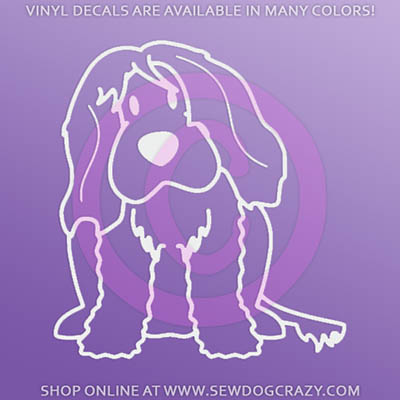 Cartoon Portuguese Water Dog Decal