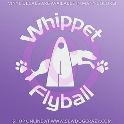 Whippet Flyball Sticker