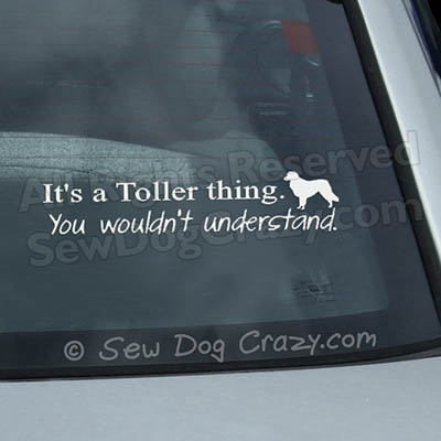 Funny Toller Car Window Sticker