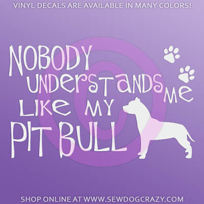 Funny Pit Bull Car Sticker