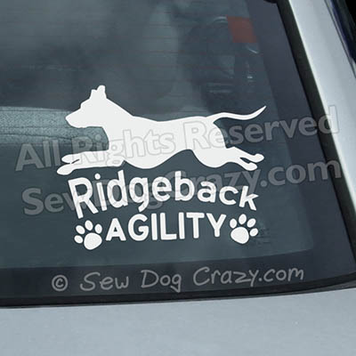 Ridgeback Agility Car Decals