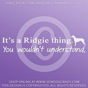 Funny Ridgeback Vinyl Stickers