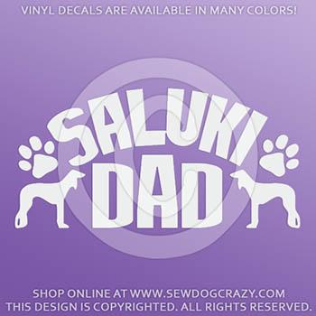 Saluki Dad Decals