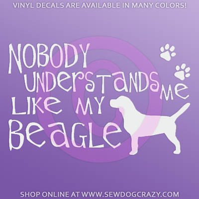 Funny Beagle Car Sticker