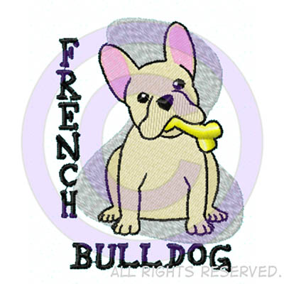 Embroidered French Bulldog Shirts