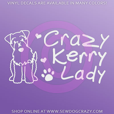 Funny Kerry Blue Terrier Decals