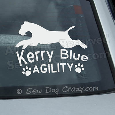 Kerry Blue Terrier Agility Car Window Sticker