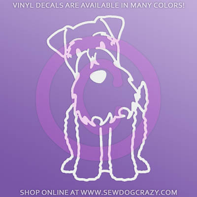 Cartoon Kerry Blue Terrier Car Window Sticker