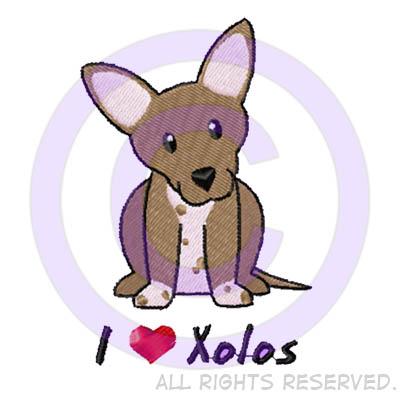 Cartoon Xoloitzcuintli Shirts