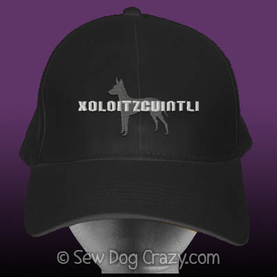 Embroidered Xoloitzcuintli hat