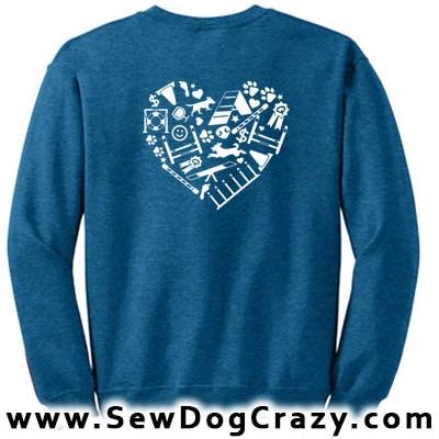 Love Dog Agility Sweatshirt