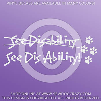 Disabled Dog Decals