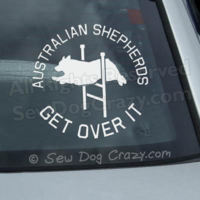 Australian Shepherd Agility Car Window Sticker