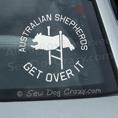 Australian Shepherd Agility Car Window Sticker