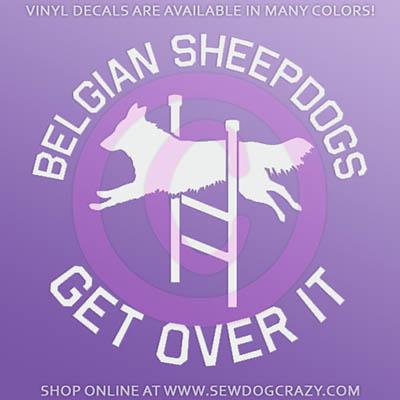 Belgian Sheepdog Agility Car Window Sticker