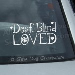 Deaf Blind Dog Car Decals