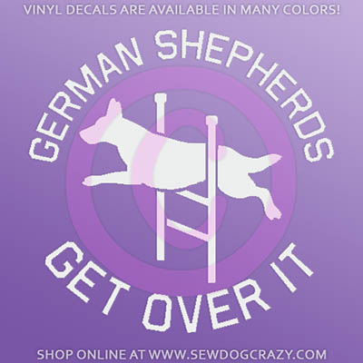 German Shepherd Agility Car Window Sticker