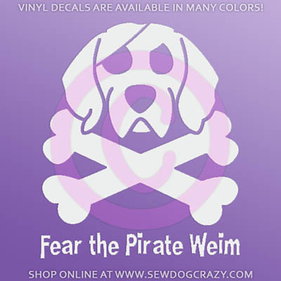 Pirate Weimaraner Decal