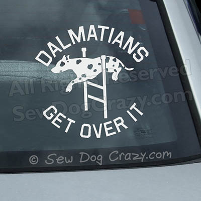 Dalmatian Agility Car Window Sticker