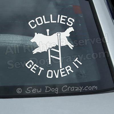 Collie Agility Window Sticker