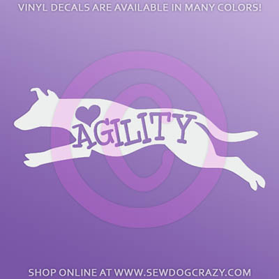 Agility Smooth Collie Car Stickers