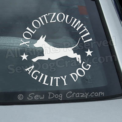 Xolo Agility Window Decals
