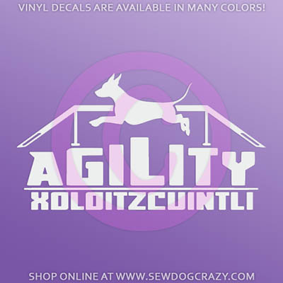 Xolo Agility Car Sticker