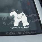 Angel Kerry Blue Terrier Car Window Sticker