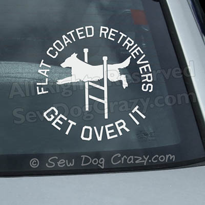 Flat Coated Retriever Agility Car Window Sticker