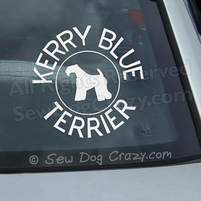 Kerry Blue Terrier Car Window Sticker