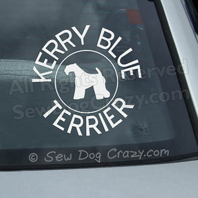 Kerry Blue Terrier Car Window Sticker