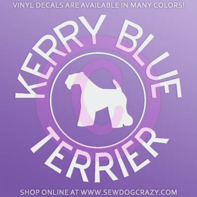 Kerry Blue Terrier Decals