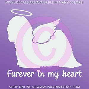 Angel Lhasa Apso Decal