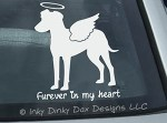 Angel Manchester Terrier Car Window Sticker