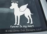 Angel Manchester Terrier Car Window Sticker