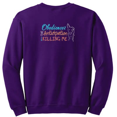 Embroidered Obedience Sweatshirt