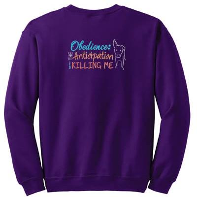Embroidered Obedience Sweatshirt