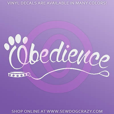 Dog Obedience Car Sticker