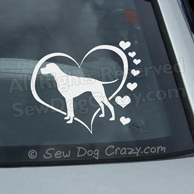 Love Pointers Car Window Sticker