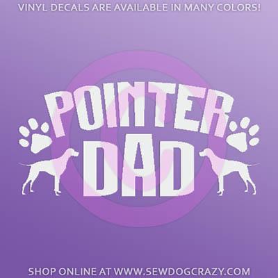 Pointer Dad Stickers